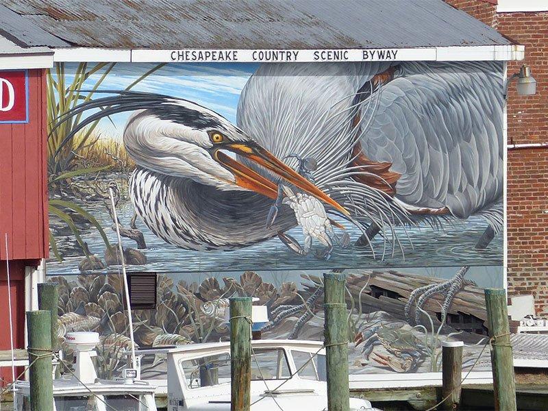 Chesapeake Country Mural in Cambridge