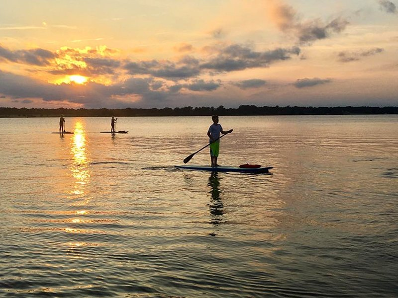 SUP with Over Board Paddle and Fitness