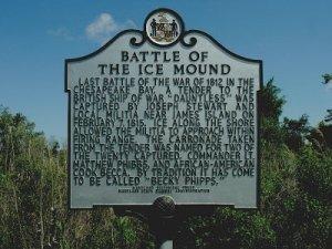 ice mound historic marker