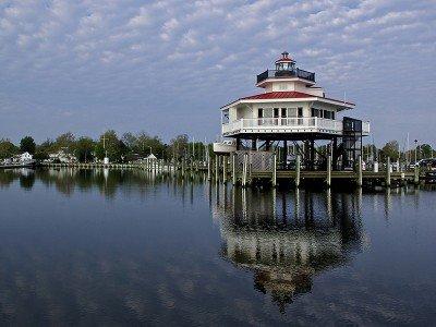 Choptank River Lighthouse in Cambridge, MD - Photo by Jill Jasuta
