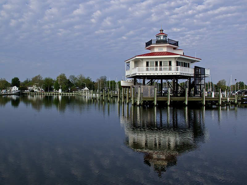 Choptank River Lighthouse in Cambridge, MD - Photo by Jill Jasuta