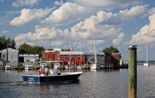 Boating on Cambridge Creek, Dorchester County, Maryland
