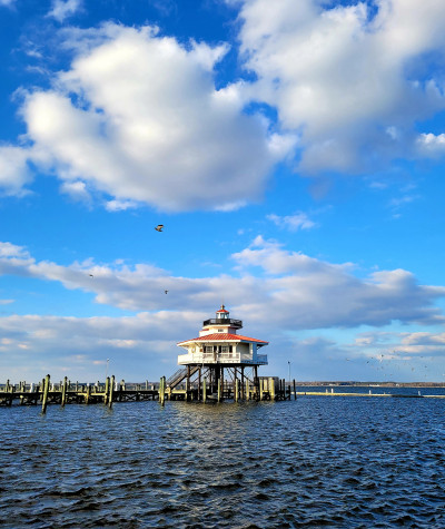 Choptank River Lighthouse in Dorchester County, Maryland
