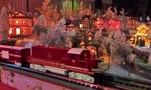 Christmas Train Garden