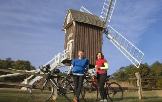 Cycling in Dorchester County on Maryland's Eastern Shore - Spocott Windmill