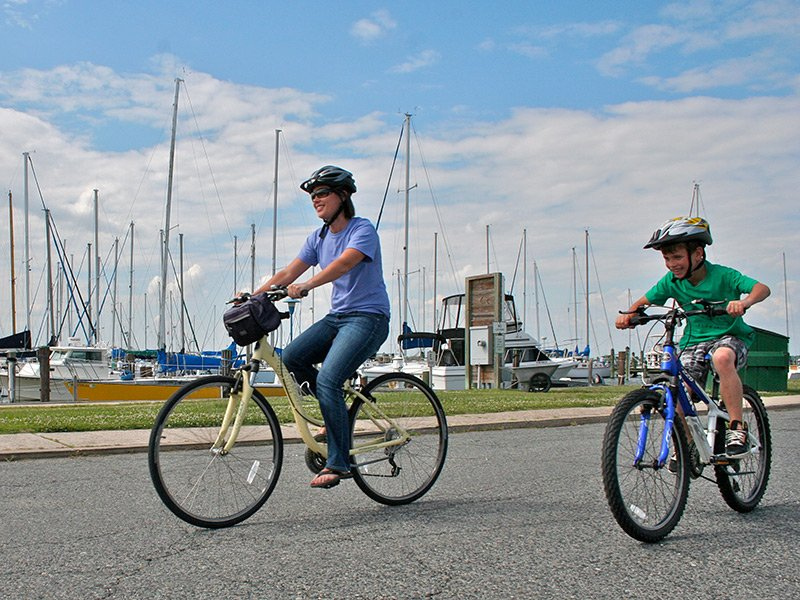 Cycling in Dorchester County on Maryland's Eastern Shore - Cambridge Waterfront