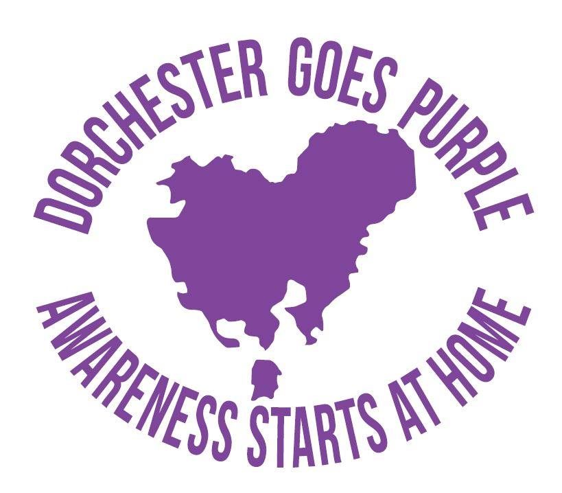 Dorchester Goes Purple Logo