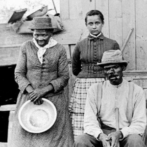 Harriet Tubman and husband and adopted daughter