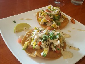 Crab & Avocado Tostada at Jimmie & Sook