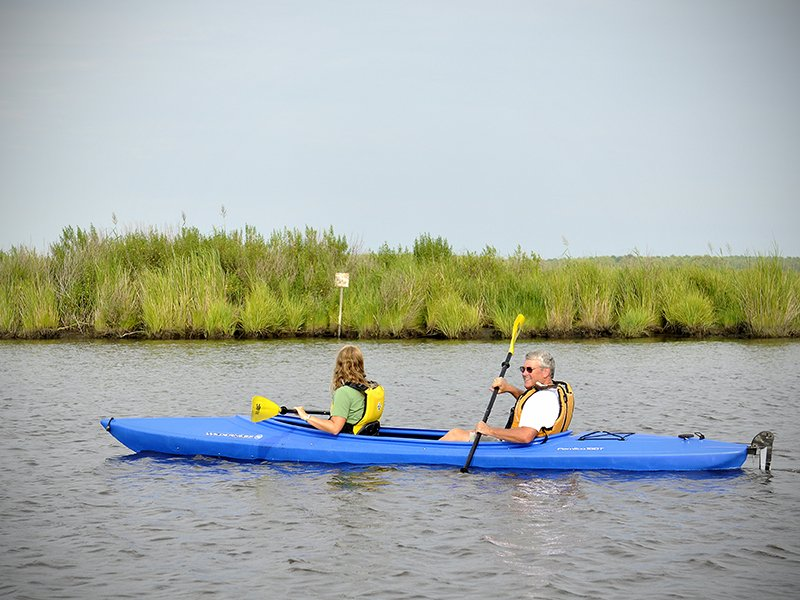Kayaking in Dorchester County on Maryland's Eastern Shore