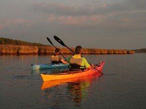 Kayaking around Taylors Island, Dorchester County, Maryland