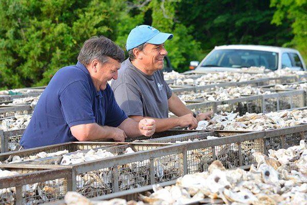 Mike Rowe at the Oyster Hatchery