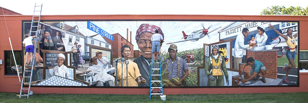 African-American Heritage Mural by Michael Rosato