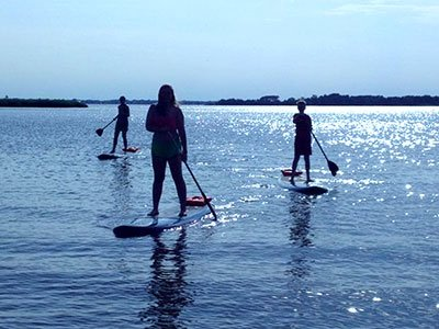 SUP with Over Board Paddle & Fitness
