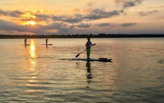 Sunset SUP with Over Board Paddle and Fitness