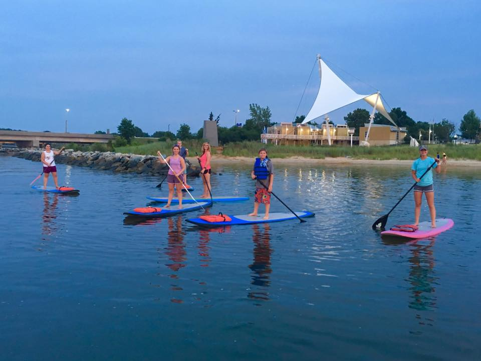 stand up paddle board classes at the Sailwinds Visitor Center