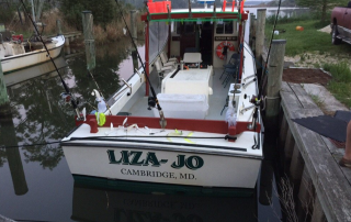 crabbing with Fred Pomeroy on the Liza-Jo