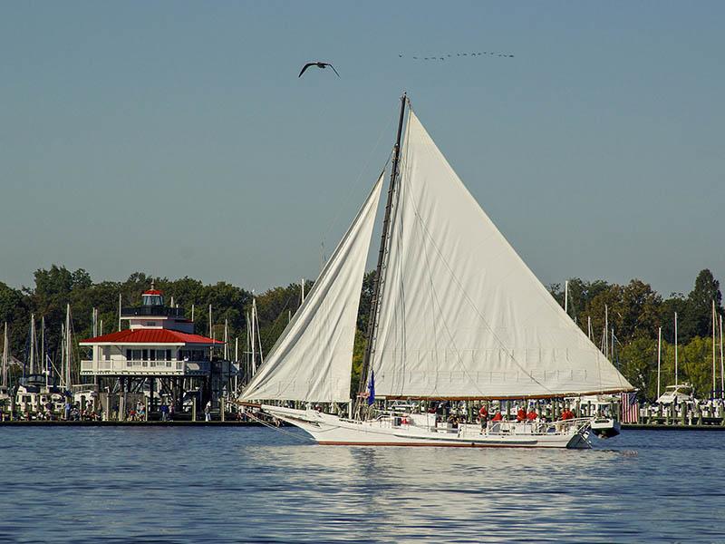 Skipjack Nathan and Lighthouse