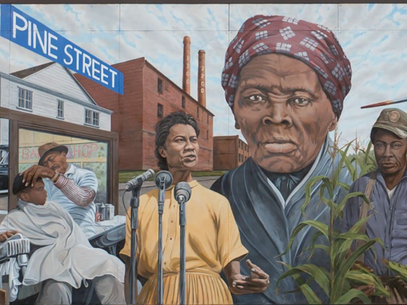 African American Heritage Mural in Cambridge, Maryland