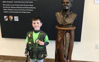 Junior Ranger at Harriet Tubman Underground Railroad Visitor Center