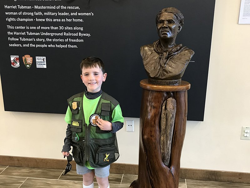 Junior Ranger at Harriet Tubman Underground Railroad Visitor Center