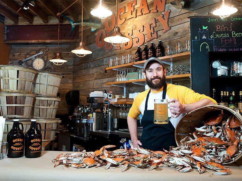 Travis Todd at Ocean Odyssey Seafood Restaurant, Cambridge, Maryland
