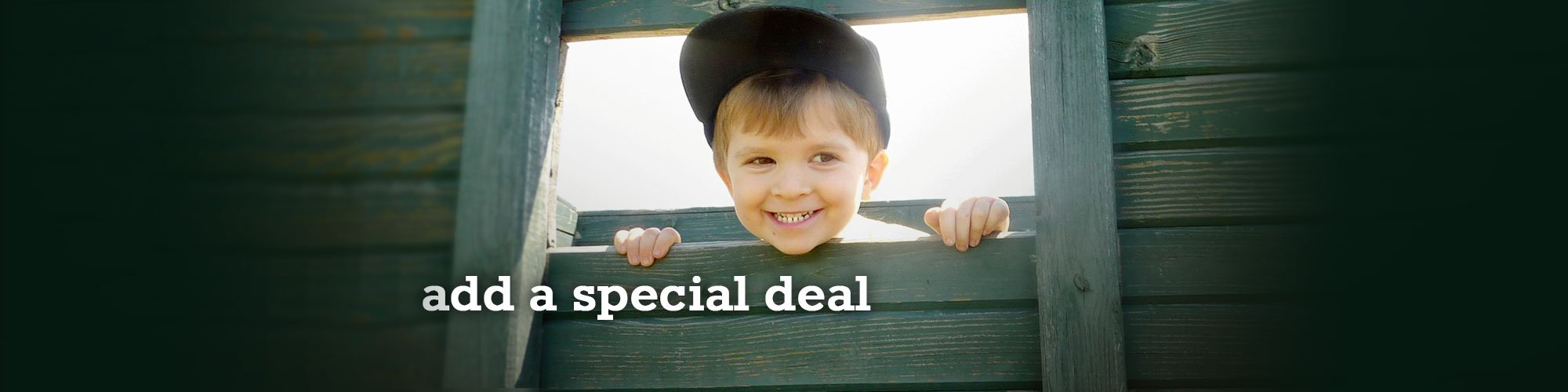 Add a Special Deal